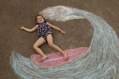 Soltando a imaginação com giz em pó colorido
