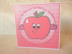 Apple Get Well Soon Digi Card Send A Hug UK by squirrelcrafts46, £4.00 Feeling Under The Weather, Sending Hugs, Get Well Soon, Say Hi, Friend Birthday, Apple, Handmade Gifts, Cards, Etsy