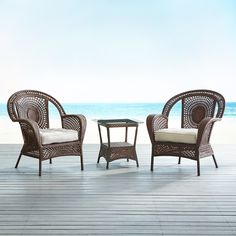 Azteca Chesnut Brown 3 Piece Patio Set