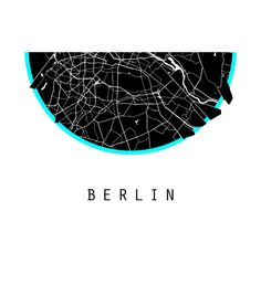 Berlin Map Germany Map World Map Deutschland Map Prints Poster Art Design Artwork Illustrator Canvas print Rolled Artwork Free Shipping