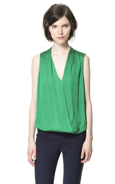 Green crossover top