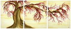 Cherry Blossom Tree Paintings - Cherry Blossom Tree by Phung Martin