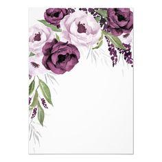 Purple Plum and Gray Silver Elegant Bridal Shower Invitation , Bg Design, Paper Design, Floral Wedding Invitations, Shower Invitations, Invite, Frame Floral, Purple And Silver Wedding, Elegant Bridal Shower, Create Your Own Invitations