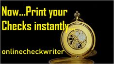 Instant Checks - Print Online Instantly any printer. Used by Fortune 500 Order Checks Online, Payroll Checks, Check Mail, Blank Check, Writing Software, Business Checks, Letter Size Paper, Check Printing, Tool Design