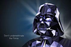 Darth Vader - Polygonal Star Wars Portraits by Vladan Filipovic