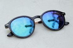 THE NEW REVO   Óculos de Sol Haste Metal Redondo Espelhado P3 Dapper Vintage
