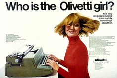 Olivetti typewriter ad