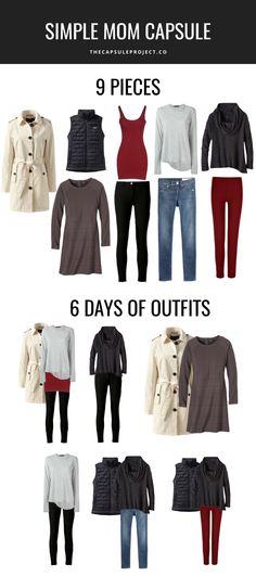 Simple 9 Piece Mom Capsule Wardrobe