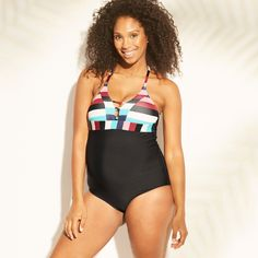 126fb2a3e2d1d Maternity Striped Lace-Up One Piece Swimsuit - Sea Angel - Victorian Stripe  XL