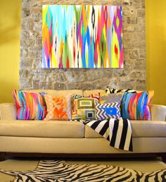 Original Abstract Painting by Rita Ortloff.  Pillows based on originals as well. www.ritaortloff.com