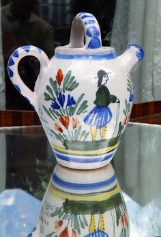 Henriot Quimper Faience Pottery : A charming Milk Jug - from a large private collection - follow link to see collection