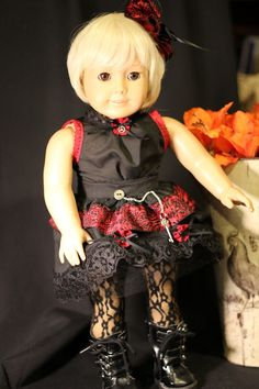 American Girl Steampunk Black & Red by PrairieWindGirls on Etsy, $80.00