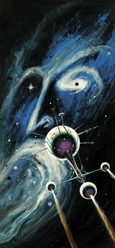 Jack Gaughan, cover of Galaxy Science Fiction, 1968