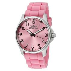 Invicta Women's Wildflower Pink Dial Pink Silicone Watch. Can I ever get enough pink? Pinned by Deal Diva.