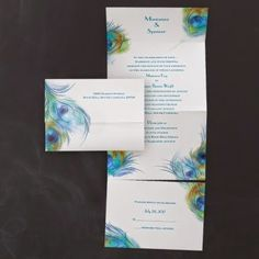 Occasions to Blog: Peacock Wedding Invitations (Invitation Link - http://occasionsinprint.carlsoncraft.com/3159-VZ30710-Peacock-Profusion--Seal-n-Send.pro)