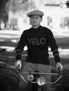 Racing sweater made exclusively for Velo Motors by French knitwear company, Saint James. The sweater is built on the chassis of the Saint James Matelot, a model designed to fit snugly to the body. According to Velo Moto, the racing sweater was popular with cyclists from the 1930s to the 1960s.