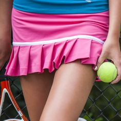 pink tennis skirt. I want to play tennis now!