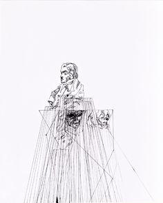 Line drawing by Jasper Sebastian Sturup
