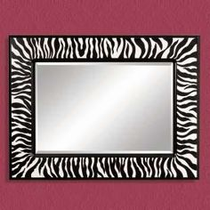 Black & White Zebra Decorative Mirror.. I will prolly do it myself, but love the idea of it