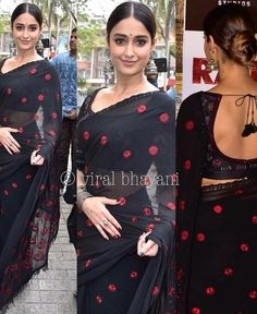 Velvet Saree, Indian Outfits, Indian Clothes, Indian Wear, Blouse Designs, Sari, Hair Styles, How To Wear, Blouses