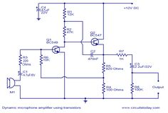 microphone preamp circuit circuit diagram circuit diagrams rh pinterest com mic preamp circuit diagram microphone preamp schematic diagram
