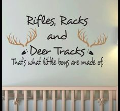Rifles racks and deer tracks stencils for baby room camo country