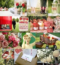Red and White Country Wedding