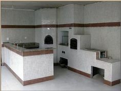 churrasqueira fogão lenha diferente - Pesquisa Google Wood Box Decor, Small Wood Box, White Subway Tiles, Hacienda Style, Grill Design, Wood Kitchen Cabinets, Herd, Home Projects, Building A House