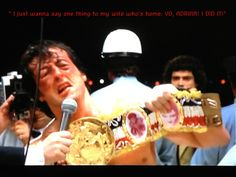 Rocky 2.    Movie quote.