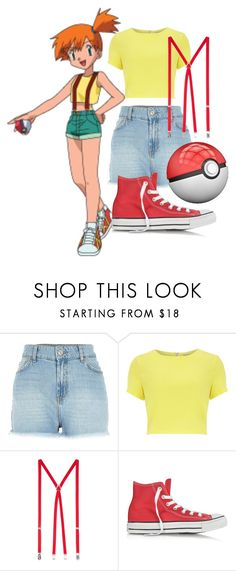 """""""Misty: Pokemon"""" by princessmikyrah ❤ liked on Polyvore featuring River Island, Alice & You, American Apparel, Converse, Pokemon, cartoon, cartoonnetwork and misty"""