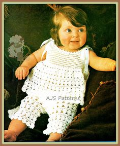 crochet pattern for baby top and pants