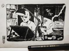 """Flux"" every day one frame  (week 1), Roberto Ricci on ArtStation at https://www.artstation.com/artwork/x0P3m"