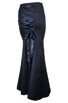 LACE UP CORSET BLACK MAXI FULL LENGTH SKIRT - this would be amazing cut right below the knees