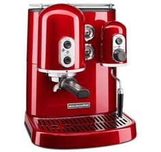 KitchenAid Pro Line Series Espresso Maker with Dual Independent Boilers One Size, Candy Apple Red Cappuccino Maker, Cappuccino Coffee, Cappuccino Machine, Espresso Maker, Coffee Maker, Coffee Coffee, Coffee Break, Coffee Aroma, Coffee Bags