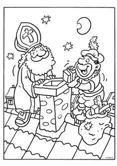 Kleurplaat Sinterklaas 1, kleuteridee Gold King Crown, Kings Crown, Gaspard, Miss America, Paint Colors, Coloring Pages, Christmas Crafts, Saints, Snoopy