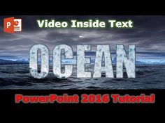How to Fill Text With Video in PowerPoint 2010 / 2013 / 2016 / 2019 Tutorial Powerpoint 2010, Powerpoint Tutorial, Microsoft Powerpoint, Powerpoint Animation, Text Animation, Windows 10 Tutorials, Word Drawings, Motion Backgrounds, Animation Tutorial