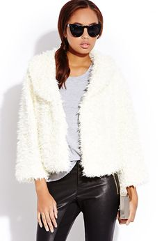 Boho Babe Fuzzy Jacket | FOREVER21 Fuzzy #Outerwear is the best outerwear #Boho #Cropped #MustHave #Fall