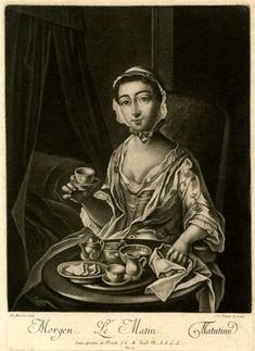 """""""Le Matin"""" by J. S. Negges after P. Mercier 1740"""