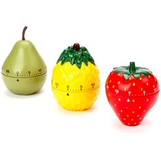 Design Imports Fruit Kitchen Timer Set ($13) ❤ liked on Polyvore featuring home, kitchen & dining and kitchen gadgets & tools