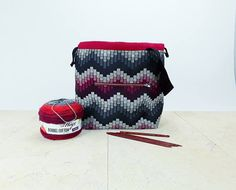 Field Bag Big Project Bag for knitting or crocheting