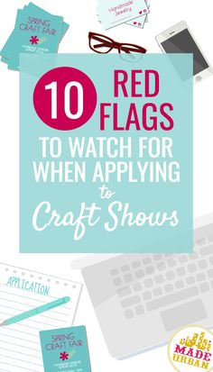 Choosing the wrong craft show to sell at can mean a lot of lost time and money. Here are 10 red craft show flags to watch for. Craft Show Booths, Craft Booth Displays, Craft Show Ideas, Diy Crafts To Sell, Fun Crafts, Wood Crafts, Craft Business, Business Tips, Legal Business