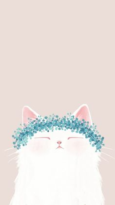 Cute cat drawing, animal drawings, cute illustration, cute cat wallpaper, i Mobile Wallpaper, Wallpaper Backgrounds, Phone Wallpaper Cute, Colorful Wallpaper, Handy Wallpaper, Wallpaper Quotes, Wallpaper Lockscreen, Animal Wallpaper, Black Wallpaper