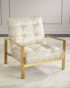 Melora+Gold+Hairhide+Chair+by+Massoud+at+Horchow.
