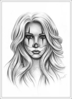 40 Best Chicano Girl Clowns Images Chicano Tattoos Female Tattoos