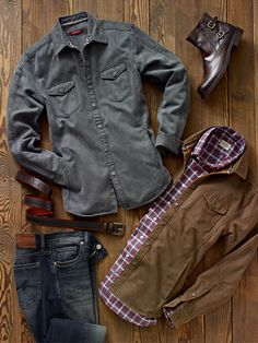 Sweater jackets prove both rugged, utilitarian and versatile worn over a t-shirt or layered with a casual collared shirt.