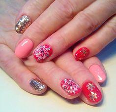 Новогодний дизайн# Nail Art # маникюр # ногти # nails # nail # дизайн ногтей # гель лак # гель # гелевые ногти # шеллак#