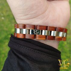"""Honor The Gods"" Runes - Wooden Bracelet - Vikings Wooden Bracelet Viking Bracelet, Viking Jewelry, Viking Arm Rings, Modern Jewelry, Men's Jewelry, Fashion Jewelry, Viking Warrior, Wooden Watch, Stainless Steel Rings"