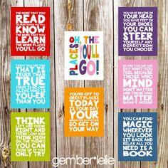 Dr. Seuss Quotes  Set of 8  Nursery Art  Wall Art  by gemberlelie