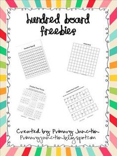 This freebie packet includes printables you can use to teach hundred board skills such as skip counting, money, ordering, place value, and more!...