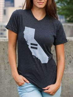 The California Equality T is a great way to show your support for marriage equality. Portion of profit donated to the Human Rights Campaign.